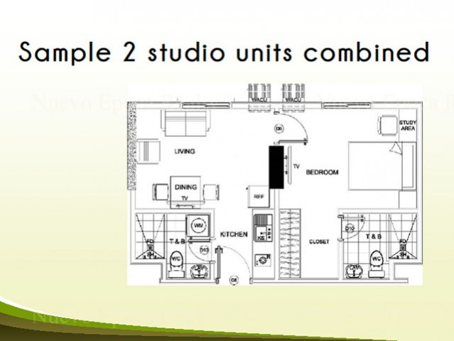 2 Studio Units Combined Sample