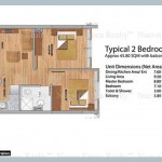2 bedroom unit floor plan