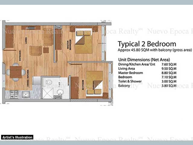 Primavera residences condos condominium unit for sale cdo for Condo floor plans 2 bedroom