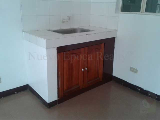 The kitchen sink with cabinet