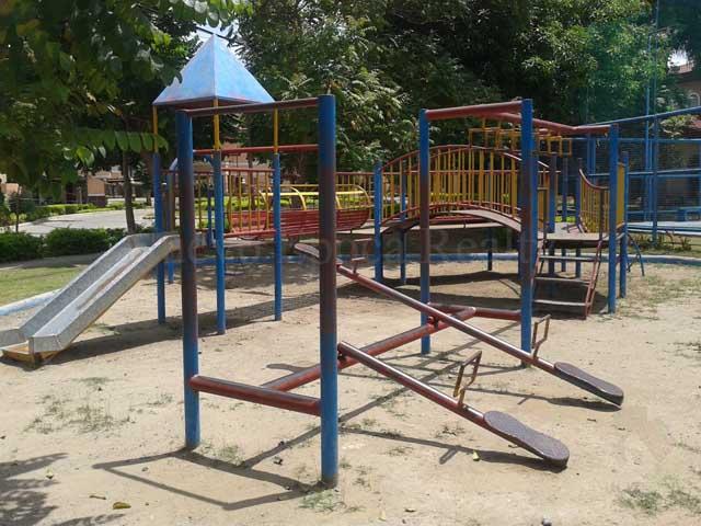 The subdivision's playground