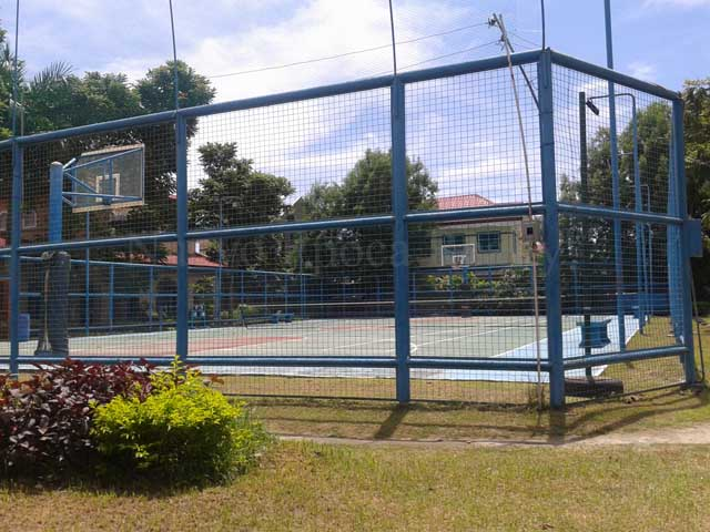 The subdivision's basketball court