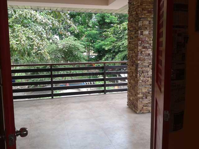 the veranda on the second floor