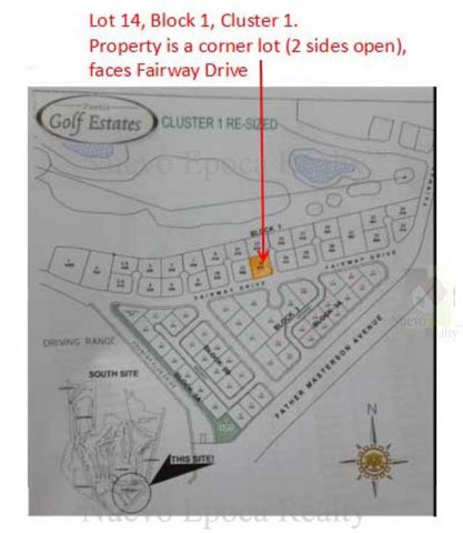 Pueblo de Oro Golf Estates' Cluster 1 Block Map