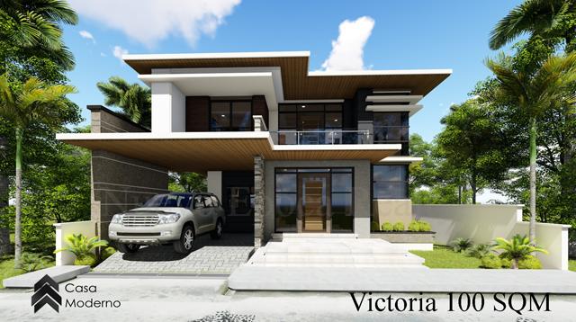 2-storey 100 sqm house model