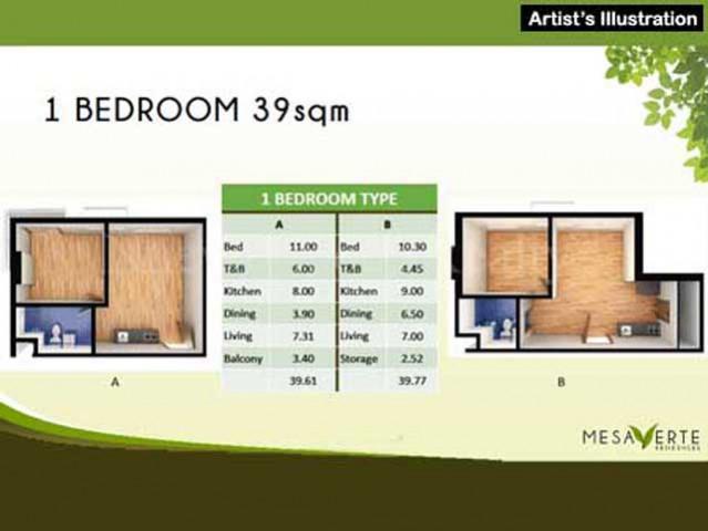 1 Bedroom Floor Area Specification
