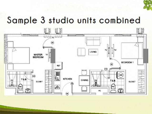 3 Studio Units Combined Sample