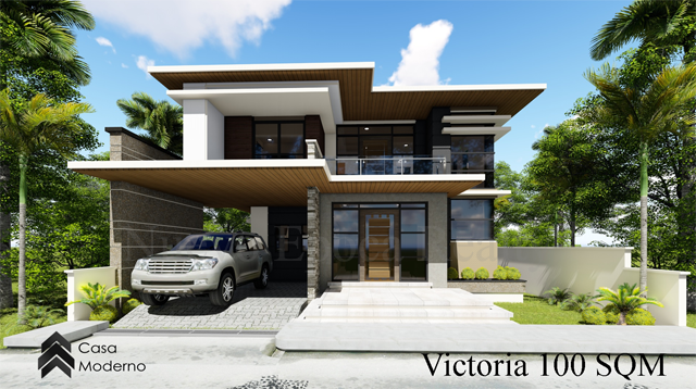 2-storey 100 sqm house model